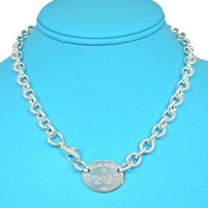 Tiffany & Co. PLEASE RETURN TO TIFFANY OVAL TAG NECKLACE 15.5