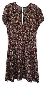 Forever 21 short dress Black with multicolored floral design on Tradesy