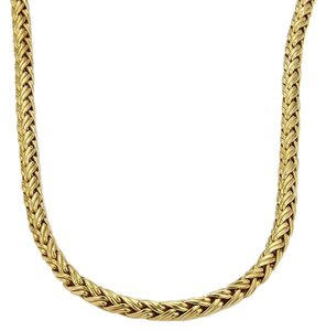 Tiffany & Co. Tiffany & Co. 18k Yellow Gold Woven Chain Link Necklace