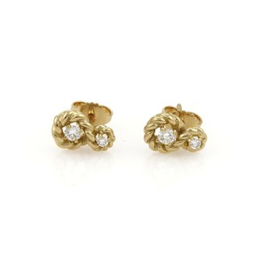 Tiffany & Co. Tiffany & Co. Diamond 18K Yellow Gold Twisted Wire Stud Earrings