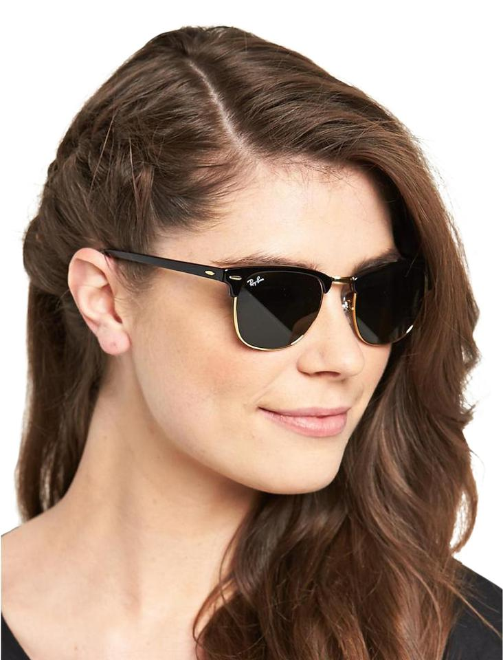 cfd1413080 Ray-Ban Black Clubmaster Classic Rb3016 W0365 Unisex Sunglasses ...