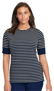 Ralph Lauren Top Navy & Gold