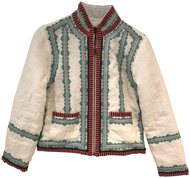 Item - White Embroidered Jacket Size 6 (S)