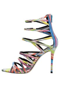 ALDO Strappy Stiletto Pastel Pink Yellow Blue Green Sandals