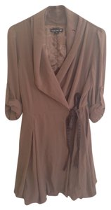Double Zero short dress Brown Wrap Ribbon Bubble Puff on Tradesy
