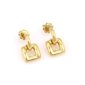 Tiffany & Co. Tiffany & Co. Italy 18k Yellow Gold Square Shape Dangle Earrings