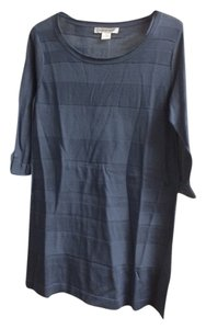 August Silk Top Blue Gray