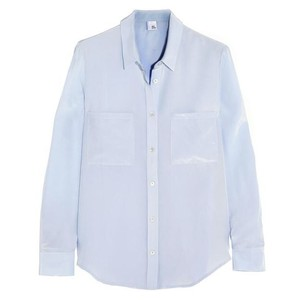 Iris & Ink Button Down Shirt Blue