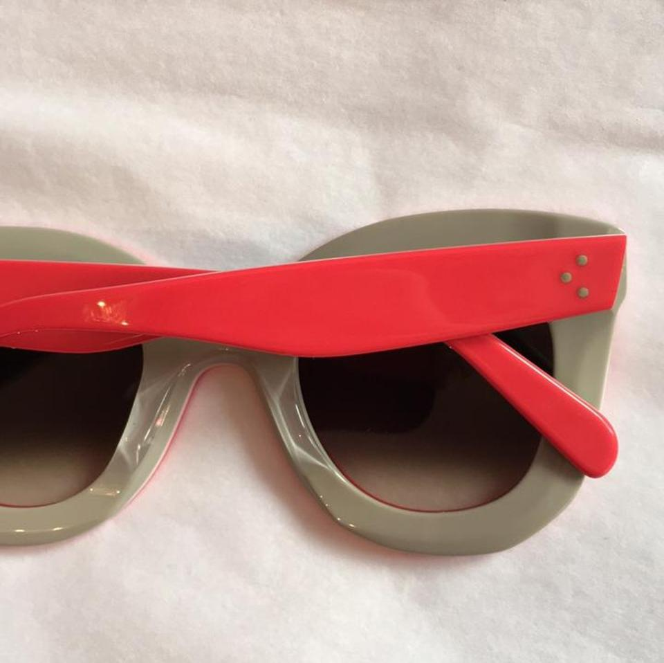 b49964f6275e Céline NEW Celine Marta CL 41093 S Red Oversized Sunglasses Image 7.  12345678