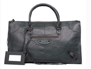 Balenciaga Lamb Skin Leather Excellent Condition Satchel in Anthracite