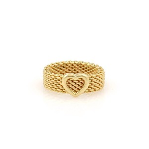Tiffany & Co. Tiffany & Co. 18K Yellow Gold Somerset Heart Band - Size 7