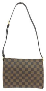 Louis Vuitton Lv Damier Ebene Musette Tango Canvas Shoulder Bag