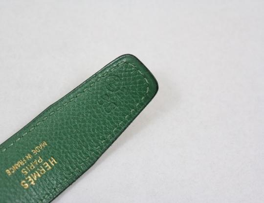 Hermès Yellow and Green Reversible 24mm Constance Belt