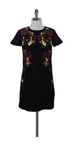 French Connection short dress Black Lace Short Sleeve Embroidery on Tradesy