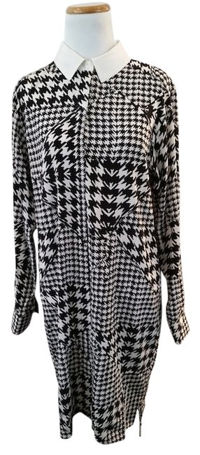 DKNY short dress Black and White Houndstooth on Tradesy