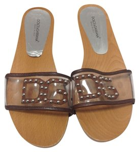 Dolce&Gabbana Wood Brown Mules