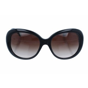 Chanel CHANEL SUNGLASSES Oval Trendy Shiny Black with Ivory