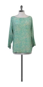 Tucker Turquoise Tan Leopard Print Silk Top