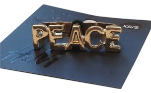 H&M XS/S NWT H&M PEACE Two-Finger Ring Free shipping!