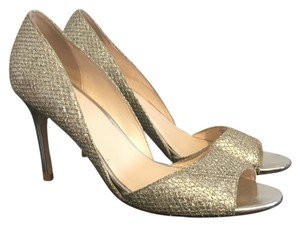 Cole Haan Gold/Silver Pumps