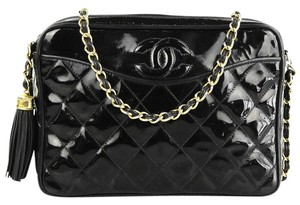 Chanel Vintage Tassel Camera Lambskin Shoulder Bag