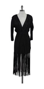 Jimmy Choo short dress Black Suede Fringe on Tradesy