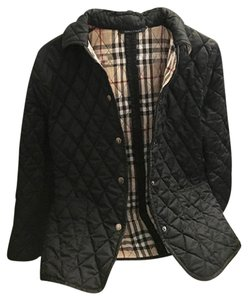 Burberry Quilted Nova Check Black Jacket