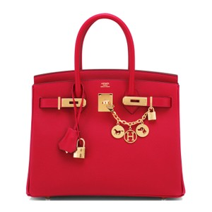 1d00146916da Hermès Birkin Epsom 30cm Lipstick Red Gold Hardware Rouge Casaque Leather  Satchel