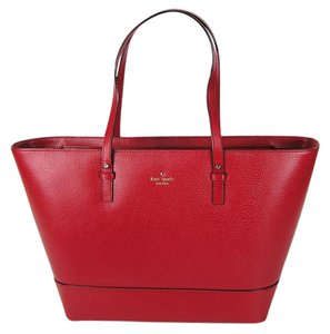Kate Spade Large Travel Grand Street Cedar Street Tote in Pills Box red