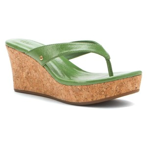UGG Australia Green Wedges