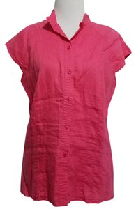 Coldwater Creek Button Down Shirt Pink
