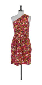 Shoshanna short dress Multi Color Floral Print Silk One on Tradesy
