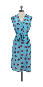 Tucker short dress Multi Color Print Silk Sleeveless on Tradesy