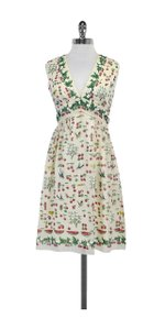 Anna Sui short dress Multi Color Cherry Print Silk Sleeveless on Tradesy