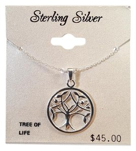 Other Gorgoues Tree of Life Sterling Silver Pendant Necklace