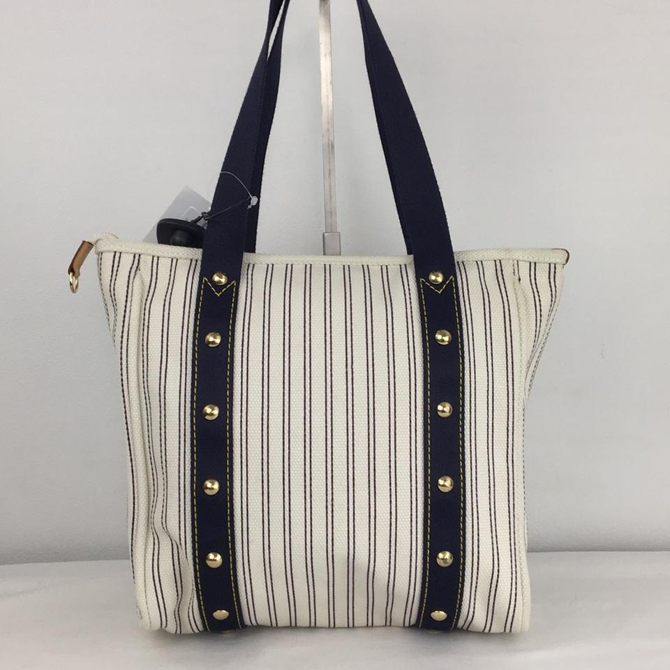 95d5ec178d41 Louis Vuitton Cabas Striped Antigua Mm So Cool Navy Canvas Tote - Tradesy