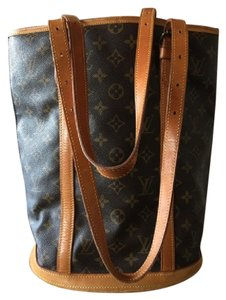 Louis Vuitton Monogram Noe Leather Neverfull Damier Canvas Tote in Brown