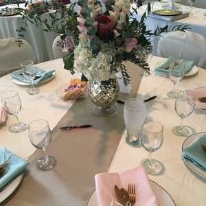 Pink And Green Linen Napkins