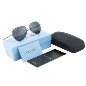 Lanvin NEW Lanvin Paris SLN049 8FF Black & Soft Gold Metal Aviator Sunglasses