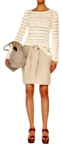 Michael Kors Linen Imported Mini Skirt Beige