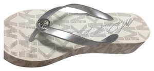 Michael Kors Grey and White Sandals