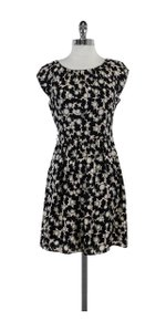 MILLY short dress Black Blush Grey Printed Silk on Tradesy