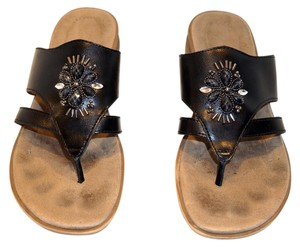 Naturalizer black with jewels Sandals