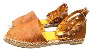 Valentino Studded Rockstud Strappy Caged Ballerina Cognac (tan brown) Flats