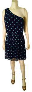 Lush Size Large Polka Dots One Sleeveless Knee Length P1287 Dress