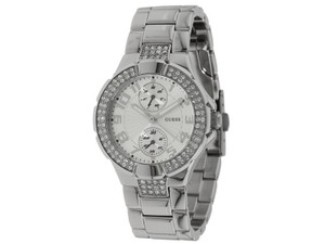 Guess U12003L1 Women's Silver Metal Bracelet With Silver Analog Dial Watch