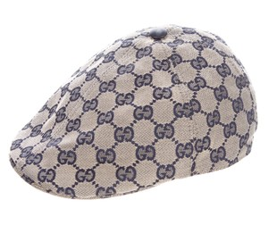 Gucci Grey, navy blue GG monogram canvas Gucci hat XXS