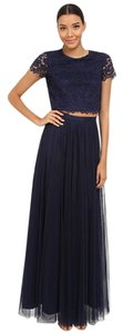Donna Morgan Bridesmaid Lace Two Piece Tulle Dress