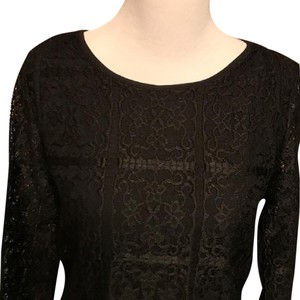 Adrianna Papell Lace Lace Top Black