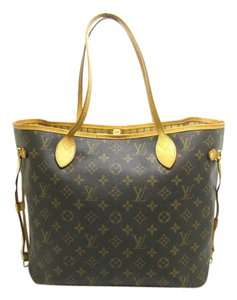 Louis Vuitton Leather Monogram Nevefull Luxury European Tote